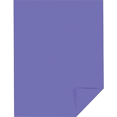 Wausau Paper Astrobrights Colored Card Stock, Gravity Grape , 8 1/2