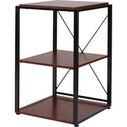 Staples® Axis Corner Stand, Cherry Finish
