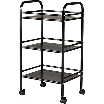 Staples 3 Shelf Rolling Cart