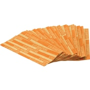Coin-Tainer® Flat Tubular Quarter Wrappers, Orange, $10, 1000/Box