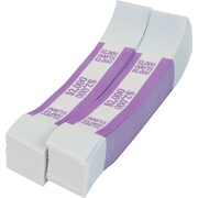 Coin-Tainer® $2,000 Currency Strap, Violet, 1000/Pack