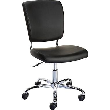 staples 27373 nadler luxura office chair armless black. Black Bedroom Furniture Sets. Home Design Ideas
