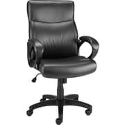 Staples 27915-CC Lewston Faux Leather Luxura Seat Back, Padded Arms