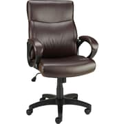Staples 27916-CC Lewston Faux Leather Chair, Padded Arms, Brown