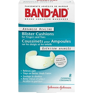 BAND-AID Brand® Advanced Healing Blister Cushions for Fingers and Toes, 8/Pack