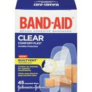 BAND-AID Brand® - Pansements COMFORT-FLEX® transparents, formats assortis, paq./45