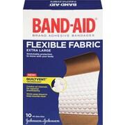 BAND-AID Brand® - Pansements en tissu flexible, format extra large; paq./10