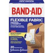 BAND-AID Brand® - Pansements en tissu flexible pour jointures et bout des doigts, paq./20