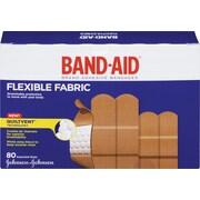 BAND-AID Brand® - Pansements en tissu flexible, formats assortis, paq./80