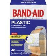 BAND-AID Brand® - Pansements COMFORT-FLEX® en plastique, formats assortis, paq./40