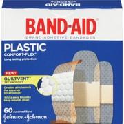 BAND-AID Brand® - Pansements COMFORT-FLEX® en plastique, formats assortis, paq./60
