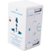 Austin House 3-in-1 Travel Adapter Kit with Travel Case