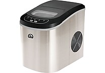 Igloo Stainless Steel Counter Top Refurbished Ice Maker, Refurbished, Assorted Colors