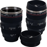Set of 2 Camera Lens Coffee Mugs with Lid
