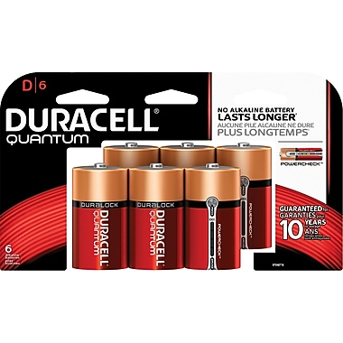 Duracell® Quantum D Batteries, 6/Pack