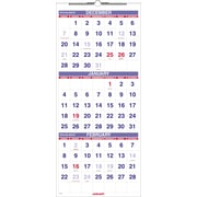 "2016 AT-A-GLANCE Three-Month Reference Wall Calendar, 12'' x 27"", White/Blue, (PM11-28)"