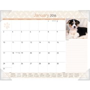 "2016 AT-A-GLANCE® Puppies Desk Pad, 22"" x 17"", Design, (DMD166-32-16)"