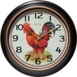 "Infinity Instruments 12"" Silent Sweep Second Hand Rooster Dial Wall Clock, Rotterdam"