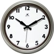 "Infinity Instruments 12"" Silent Sweep Second Hand Gray Contemporary Wall Clock (14917BN-3930)"