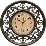 "Infinity Instruments Sofia Elegant Antique Design Silent Sweep 12"" Wall Clock (15013RS-4012)"