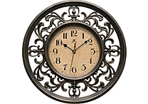 Infinity Instruments Sofia Elegant Antique Design Silent Sweep 12' Wall Clock (15013RS-4012)