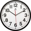 """Infinity Instruments Pure 13"""" Silent Sweep Second Hand Shatter Resistant Office Wall Clock (15018BK-4017)"""