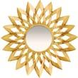 "Infinity Instruments Large 25"" Hand Welded Steel Gold Decorative Mirror, Barcelona"