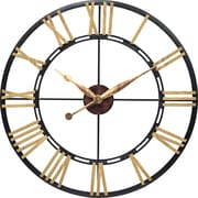 """Infinity Instruments Large 45"""" Steel Case with Wood Numerals Wall Clock, Cologne"""
