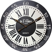"""Infinity Instruments Large 31.5"""" Double Layer Steel Wall Clock, London"""