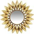"Infinity Instruments Large 26"" Gold Leaf Sun Burst Steel Decorative Mirror, Lyon"