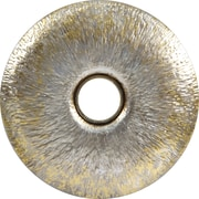 "Infinity Instruments Large 25"" Silver with Gold Leaf Steel Decorative Mirror, Stockholm"