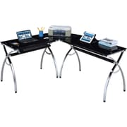 RTA Products Techni Mobili Corner Computer Desk, Black