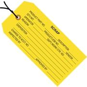 """Staples - 4 3/4"""" x 2 3/8"""" - """"Scrap"""" Inspection Tag - Pre-Strung, 1000/Case"""