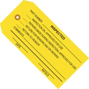 "Staples - 4 3/4"" x 2 3/8"" - ""Inspected"" Inspection Tag, 1000/Case"