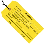 "Staples - 4 3/4"" x 2 3/8"" - ""Inspected"" Inspection Tag - Pre-Strung, 1000/Case"