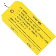 "Staples - 4 3/4"" x 2 3/8"" - ""Inspected"" Inspection Tag - Pre-Wired, 1000/Case"