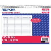 National Brand®Visitors Log Book, Wirebound, 50 pages, 11 x 8-1/2