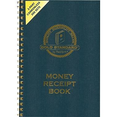 Gold Standard® Money Receipt Book, 2-3/4