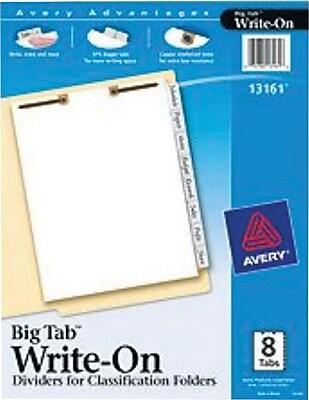 269 more details averyr big tabtm write on dividers for classification folders