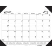 "2016 House of Doolittle Economy Compact Desk Pad Calendar, 18.5"" x 13"" (HOD0124)"