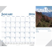 "2016 House of Doolittle Earthscapes Scenic Desk Pad Calendar, 18.5"" x 13"" (HOD0144-16)"