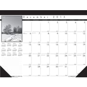 "2016 House of Doolittle Earthscapes Black on White Desk Pad, 22"" x 17"" (HOD122-16)"