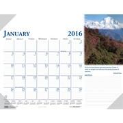"2016 House of Doolittle Earthscapes Scenic Desk Pad Calendar, 22"" x 17"" (HOD144-16)"