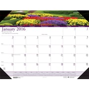 "2016 House of Doolittle Earthscapes Gardens of the World Desk Pad, 22"" x 17"" (HOD174)"