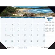 "2016 House of Doolittle Earthscapes Coastlines Desk Pad, 22"" x 17"" (HOD178)"