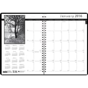 "2016 House of Doolittle Black on White Monthly Planner, 8.5"" x 11"" (HOD2162-02-16)"