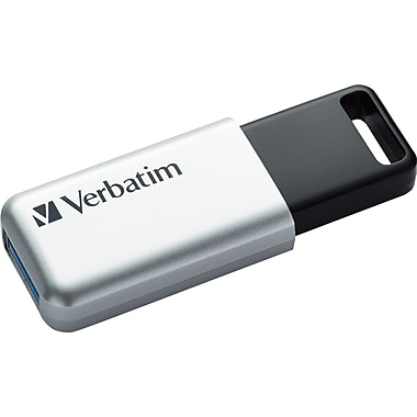 Verbatim 32GB Store N Go Secure Pro USB 3.0 Flash Drive With AES 256 Hardware Encryption, Silver