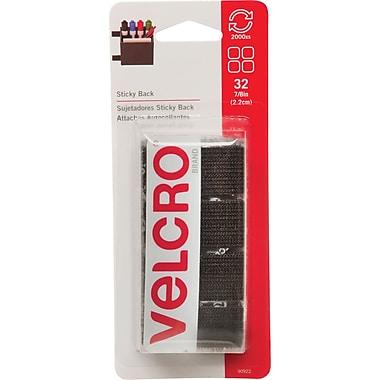 Velcro - Carrés Sticky Back, 7/8 po, noir, paq./32