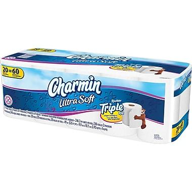 Charmin Ultra Soft Bathroom Tissue, Triple Roll, 20/Pack