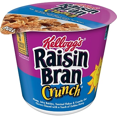 Kelloggs Raisin Bran Crunch Cereal in a Cup, 2.8 oz. 24/Pack